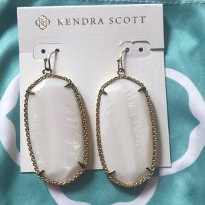 Classic Kendra Scott White Pearl Earrings Danielle